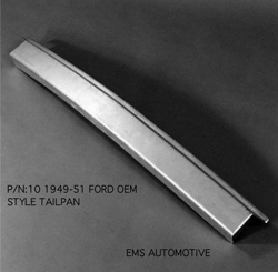 49/51 Ford pass car Tail  Pan, repairs the rear panel under the trunk lid, manufactured by EMS