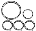 Instrument Bezel Rings, 5 pieces
