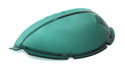 55/56 Plastic Speedometer Dome Cover, green