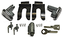 55-57 Door & Ignition Lock Set, With Keys And Mounting Parts