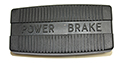 55/60 Brake Pedal Pad with POWER BRAKE in raised letters