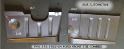 52/54 Ford pass car RH toe panel, manufactured by EMS