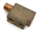 56 Brass Vacuum Block, rear of carburetor