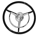 56/57 Thunderbird Steering Wheel, Retro 15 inch, Black