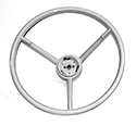 57 Steering Wheel, White