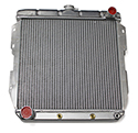 55-57 Aluminum Radiator With Cooler