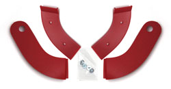 61-62 Seat Hinge Covers, Red