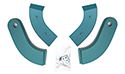 61-62 Seat Hinge Covers, Turquoise