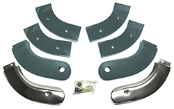 63 Thunderbird Seat Hinge Covers, Silver Blue