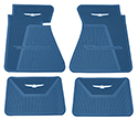 61/63 Thunderbird Front and Rear Floor Mats, Blue with White Emblem