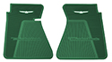 61/63 Thunderbird Front Floor Mats,DK Green with White Emblem