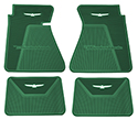 61/63 Thunderbird Front and Rear Floor Mats,DK Green with White Emblem