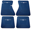 64/66 Thunderbird Front and Rear Floor Mats, Blue with White Emblem