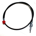 58/66  Speedometer cable and housing,plastic coated, w/o cruise control