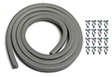 64-66 Coupe Body to Trunk Lid Seal, Gray with Clips