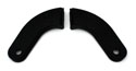 61-62 Seat Hinge Covers, Black