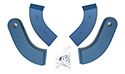 61-62 Seat Hinge Covers, Blue