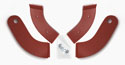 61-62 Seat Hinge Covers, Chestnut