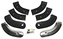 63 Thunderbird Seat Hinge Covers, Black