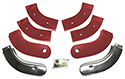63 Thunderbird Seat Hinge Covers, Red
