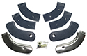 63 Thunderbird Seat Hinge Covers, Blue