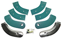 63 Seat Hinge Covers, Turquoise