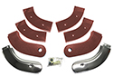 63 Thunderbird Seat Hinge Covers, Chestnut