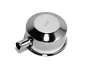 Oil Cap, Push On, with Spout, Chrome