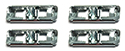 64 or 66 Thunderbird Clips to attach  fender side protection moulding, 1 side, 4 pieces