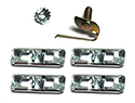 62 Thunderbird Clips to hold  RH or LH 1/4 panel body side protection moulding