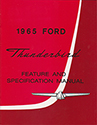 65 Thunderbird  Feature and Specification Manual
