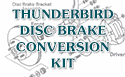 55/57 Thunderbird Disc Brake Conversion KIt