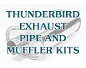 55 Thunderbird Exhaust Mufflers and Pipe Kit, Stainless Steel