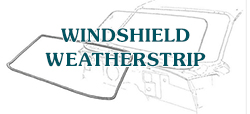 50-51 Windshield Weatherstrip, 50/51 Convertible, 51 Victoria, With Double Groove For Chrome Moldings