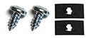 55/57 Thunderbird Glove box latch plastic guide to dash screw and nuts, 4 pieces