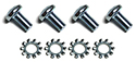 55/56 Outside door handles to doors screws and washers, (8 pcs-2 sides)