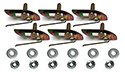 57 Thunderbird Upper grill molding (8419B) to body clips, nuts and washers, 18 pieces)