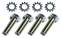 Master cylinder to firewall screws, nuts and washers (8 pcs)