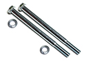 55-57 Valley Cover To Engine Screws And Washers, 4 Pieces