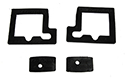 61-65 Lincoln Outside Door Handle Pad Set, Does 2 Doors