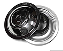 55 Ford Car Reproduction Air Cleaner With Polished Stainless Steel Top, Paper Filter Type Without Cork Seal