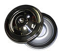 57 Ford Car Reproduction Air Cleaner With Polished Stainless Steel Top, Paper Filter Type Without Cork Seal